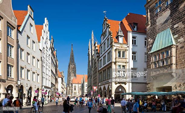 prinzipalmarkt - north rhine westphalia stock pictures, royalty-free photos & images