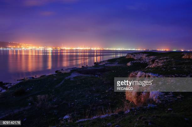 Priolo harbour Siracusa Sicily Italy Europe