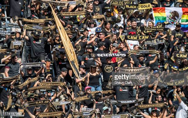 LAFC 3252 prior to Los Angeles FC's MLS match against Sporting Kansas City at the Banc of California Stadium on October 6 2019 in Los Angeles...