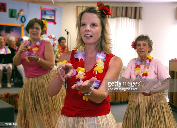 Prior to the performance 'Hawaiian Harmonies' featuring singing and dancing in the island spirit was rehearsed by the Westminstrel Show Choir from...