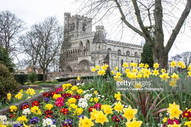 priory church, dunstable - bedfordshire stock photos and pictures