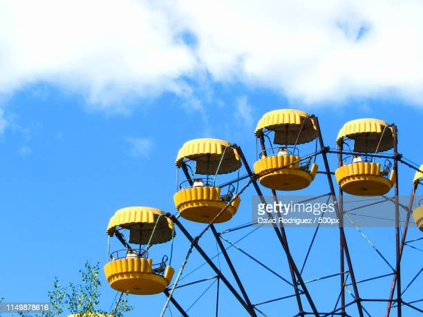 pripyat ferris wheel - chernobyl stock pictures, royalty-free photos & images