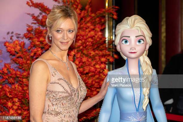 Prisca Demarez attends Frozen 2 Paris Gala Screening at Cinema Le Grand Rex on November 13 2019 in Paris France