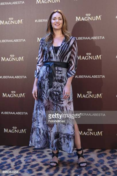 Priscila de Gustin attends the Magnum new campaign presentation party at the Palacete de Fortuny on June 14 2017 in Madrid Spain
