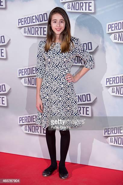 Priscila Delgado attends 'Peridendo el Norte' premiere at Capitol Cinema on March 5 2015 in Madrid Spain