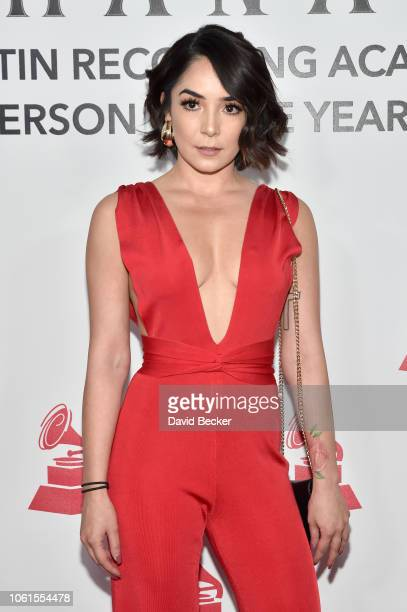 Priscila Gonzalez attends the Person of the Year Gala honoring Mana during the 19th annual Latin GRAMMY Awards at the Mandalay Bay Events Center on...