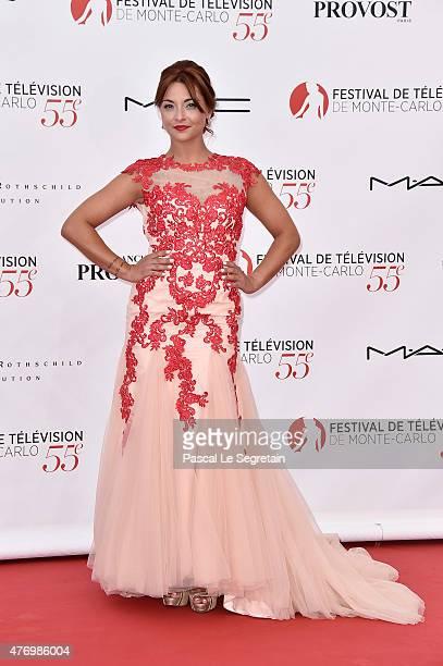 Priscilla Betti arrices at the opening ceremony of the 55th Monte Carlo TV Festival on June 13 2015 in MonteCarlo Monaco