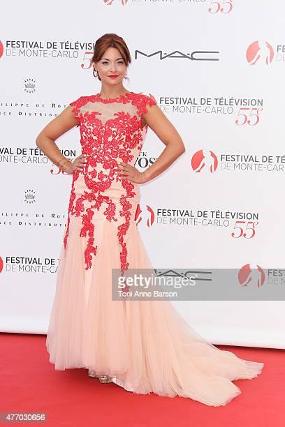 Priscilla Betti attends the 55th Monte Carlo TV Festival Opening Ceremony at the Grimaldi Forum on June 13 2015 in MonteCarlo Monaco