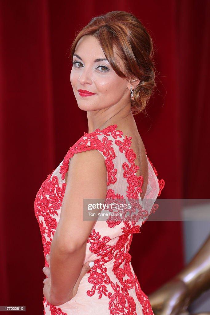 Priscilla Betti attends the 55th Monte Carlo TV Festival Opening Ceremony at the Grimaldi Forum on June 13, 2015 in Monte-Carlo, Monaco.