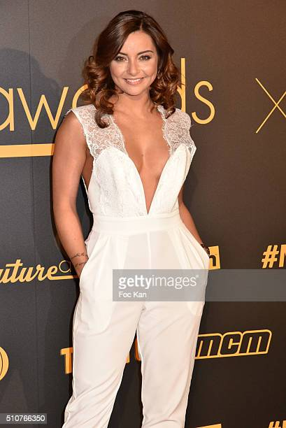 Priscilla Betti attends The Melty Future Awards 2016 at Le Grand Rex on February 16 2016 in Paris France
