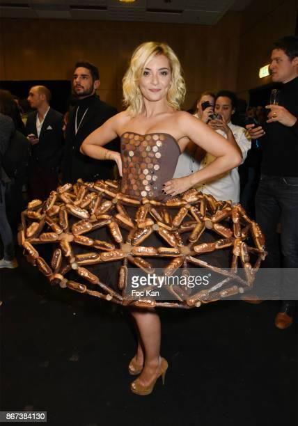 Priscilla Betti attends the 'Salon Du Chocolat 2017 Chocolate Fair' Auction Show in Benefit of Mecenat Chirurgie Cardiaque at Parc des Expositions...