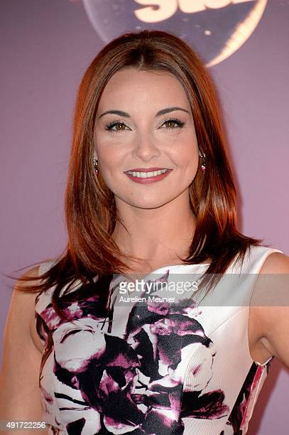 Priscilla Betti poses during the 'Dances With The Stars' photocall on October 7 2015 in Paris France