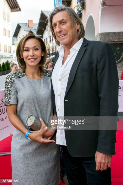 Priscilla Braunhofer and Norbert Blecha pose for a picture during the 'Inconvenient Sequel' premiere and opening night of the Kitzbuehel Film...