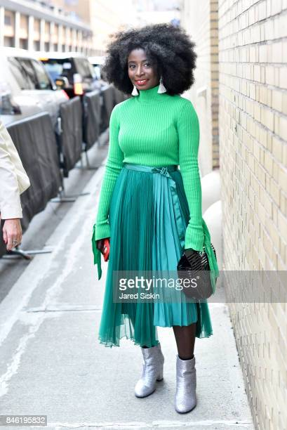 Priscilla Buah attends York Fashion Week Street Style Day 4 on September 10 2017 in New York City