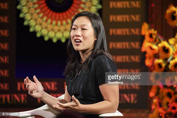 Priscilla Chan cofounder of the Chan Zuckerberg Initiative LLC speaks during the Fortune Most Powerful Women Summit in Dana Point California US on...