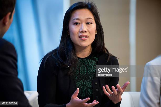 Priscilla Chan cofounder of the Chan Zuckerberg Initiative LLC speaks during the New York Times DealBook conference in New York US on Thursday Nov 10...