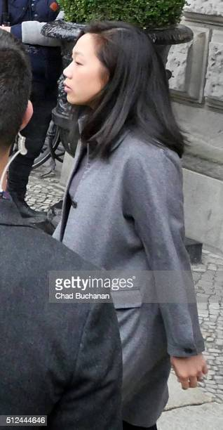 Priscilla Chan sighted on February 26 2016 in Berlin Germany