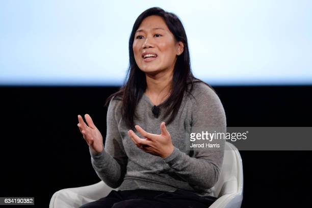 Priscilla Chan speaks on stage at The 2017 MAKERS Conference at Terranea Resort and Spa on February 7 2017 in Rancho Palos Verdes California