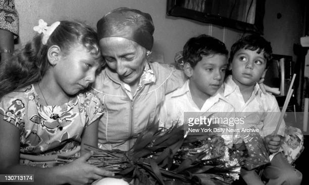 Priscilla Diaz is reunited with children Jasmin and twins Saul and Christian at her Bronx home A fourth child Milton is due home shortly Weak and in...