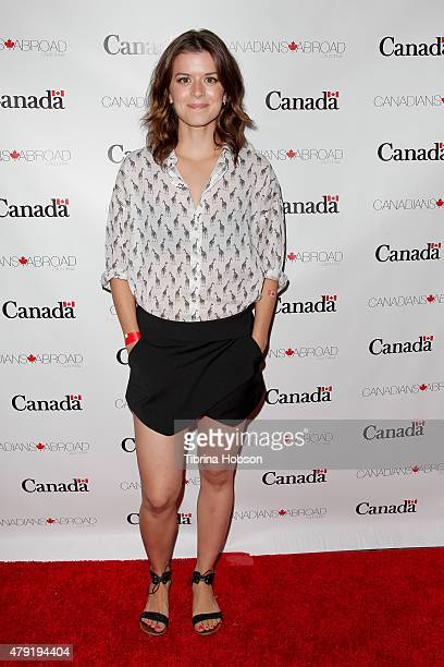 Priscilla Faia attends the Canada Day in LA party at on July 1 2015 in Santa Monica California