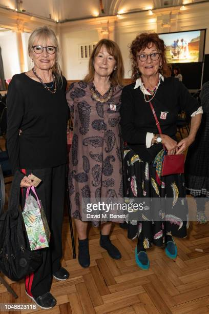 Priscilla Higham Rosie Bartlett and Jane Ormsby Gore attend the 'ASAP African Solutions To African Problems' VIP lunch at RHS Lindley Hall on October...