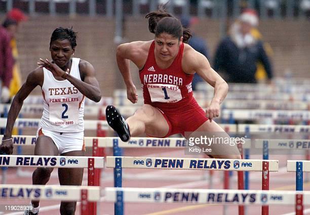 Priscilla Lopes of Nebraska won the college women's 100meter hurdles in 1297 in the111th Penn Relays at the University of Pennsylvania's Franklin...