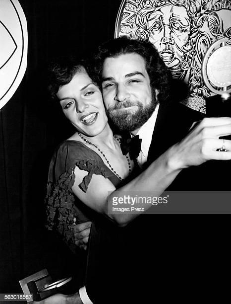 Priscilla Lopez and Mandy Patinkin win Tony Awards circa 1980 in New York City