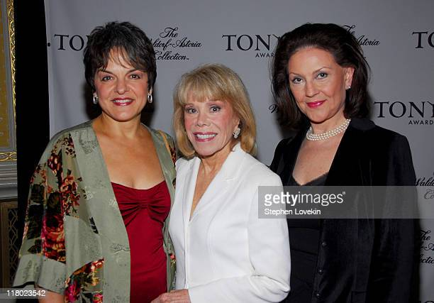 Priscilla Lopez Sondra Gilman and Kelly Bishop during 60th Annual Tony Awards Cocktail Celebration at The Waldorf Astoria in New York City New York...
