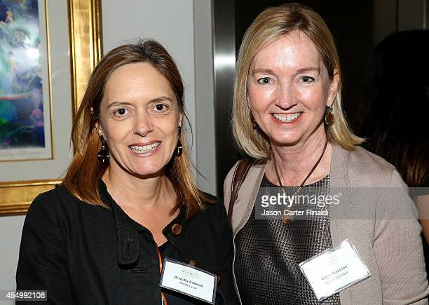 Priscilla Painton and Cathy Isaacson attend the Annual Luncheon for the New York Women's Foundation hosted by Jean Shafiroff at Le Cirque on...