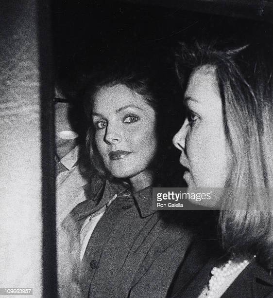 Priscilla Presley and guest during Priscilla Presley Attends a Performance of 'Cats' on Broadway December 3 1982 at Winter Garden Theater in New York...