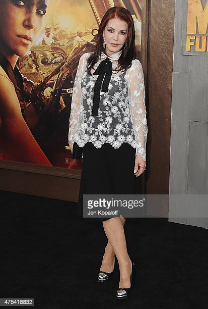 """Priscilla Presley arrives at the Los Angeles Premiere """"Mad Max: Fury Road"""" at TCL Chinese Theatre IMAX on May 7, 2015 in Hollywood, California."""