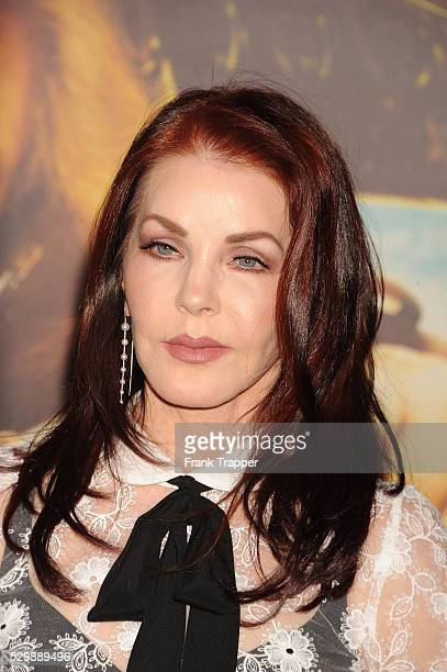 """Priscilla Presley arrives at the premiere of """"Mad Max: Fury Road"""" held at the TCL Chinese Theater in Hollywood."""