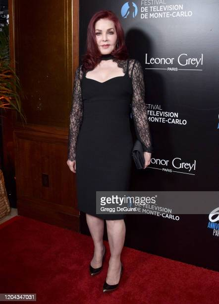 Priscilla Presley attends the 60th Anniversary Party For The Monte-Carlo TV Festival at Sunset Tower Hotel on February 05, 2020 in West Hollywood,...