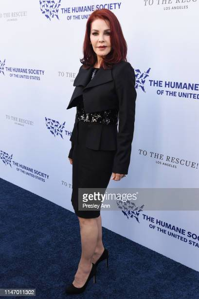 Priscilla Presley attends The Humane Society of the United States Los Angeles Gala 2019 at Paramount Studios on May 04, 2019 in Hollywood, California.
