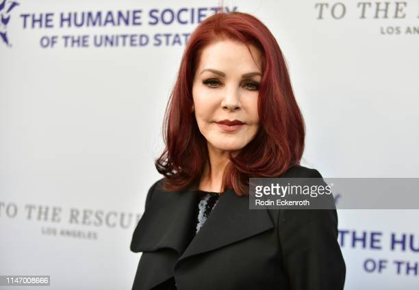 Priscilla Presley attends The Humane Society of The United States to the Rescue! Los Angeles Gala 2019 at Paramount Studios on May 04, 2019 in...