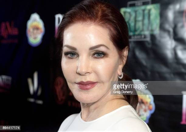 Priscilla Presley attends the Rio Vista Universal's Valkyrie Awards and Holiday Party on December 16 2017 in Los Angeles California