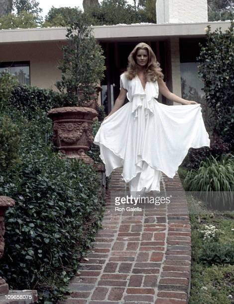 Priscilla Presley during Exclusive Photo Shoot of Priscilla Presley at her Beverly Hills Home April 9 1975 at Priscilla Presley's Beverly Hills Home...