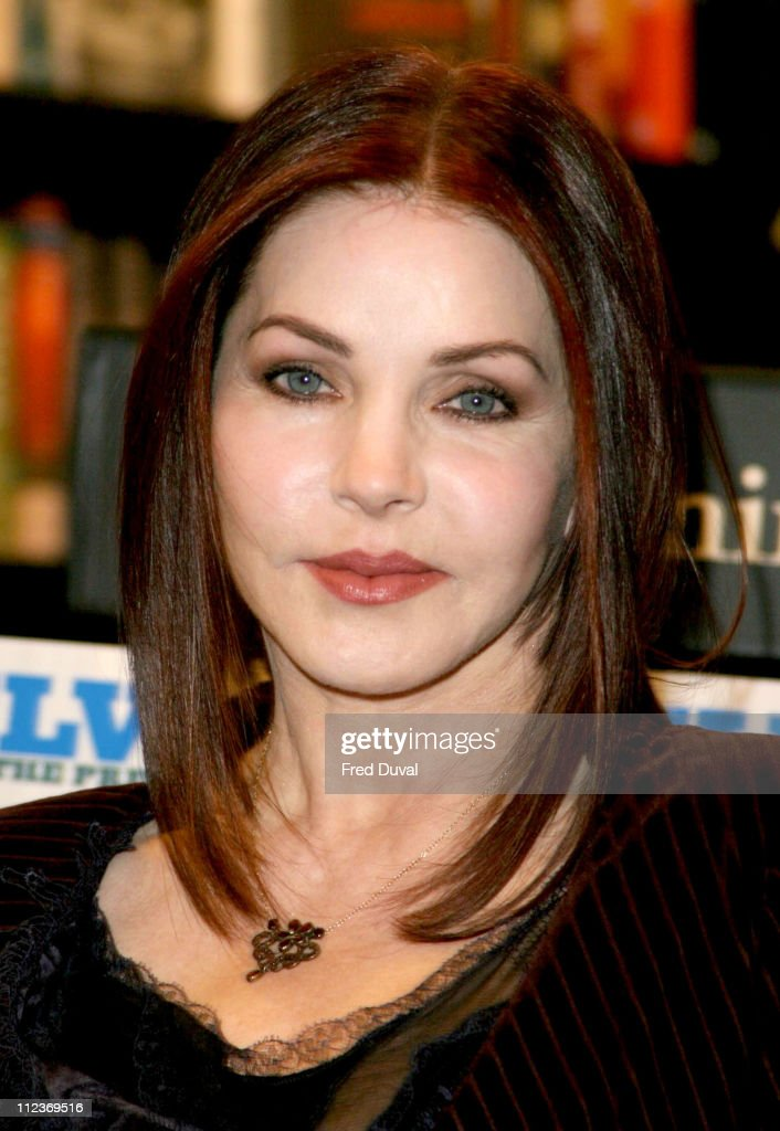 """Priscilla Presley Signs Her Book """"Elvis by the Presleys"""" at Waterstone's in"""