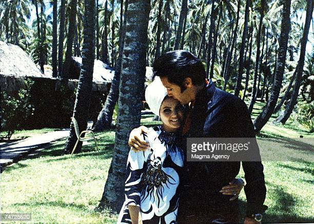 Priscilla Presley Elvis Presley in Hawaii California