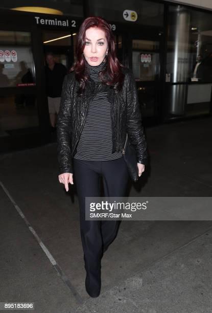Priscilla Presley is seen on December 18 2017 in Los Angeles CA