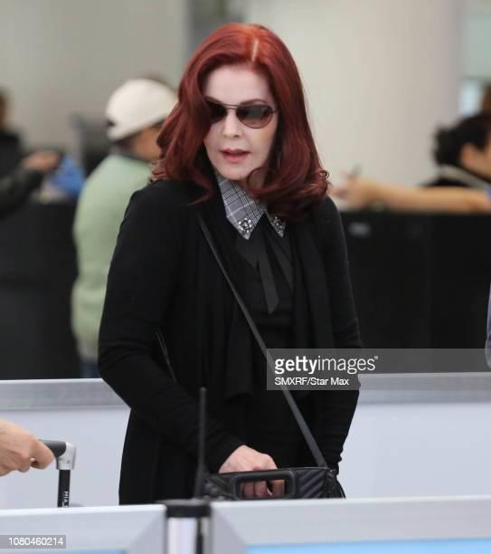 Priscilla Presley is seen on January 10, 2019 in Los Angeles, CA.