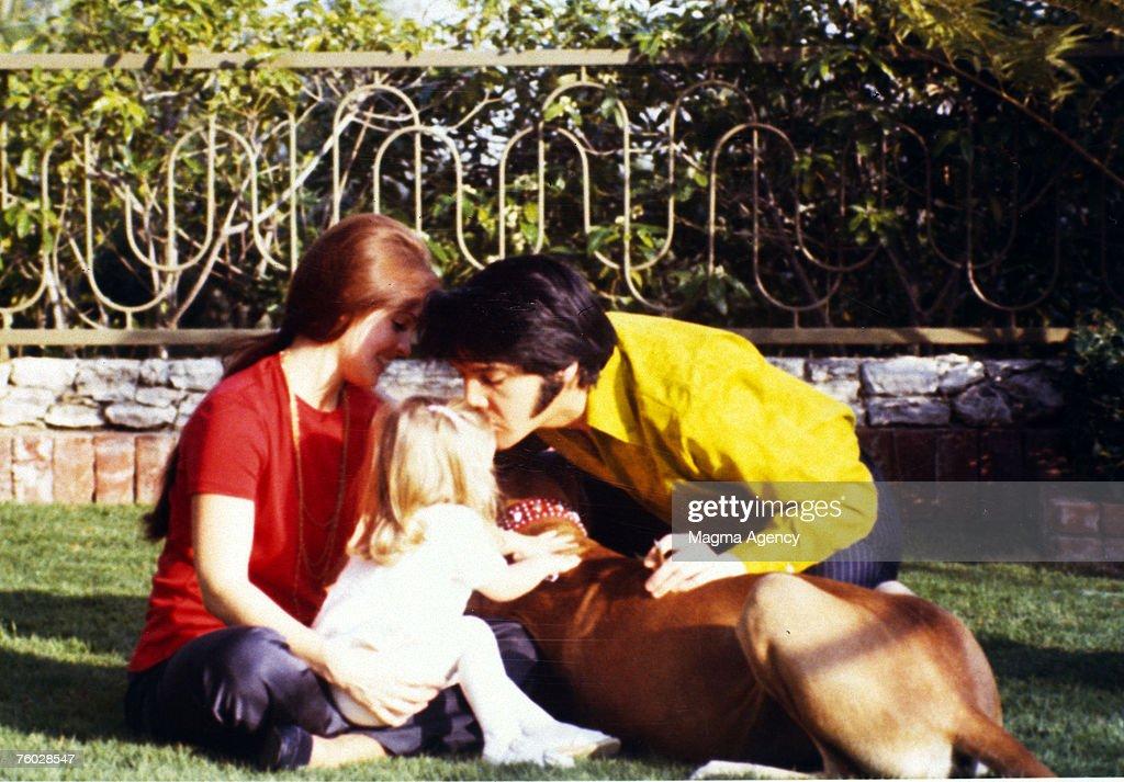 Priscilla Presley, Lisa Marie Presley & Elvis Presley