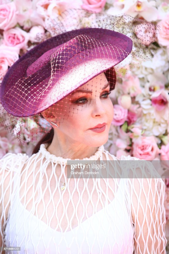 Priscilla Presley poses at the Kennedy Marquee on Kennedy Oaks Day at Flemington Racecourse on November 9, 2017 in Melbourne, Australia.