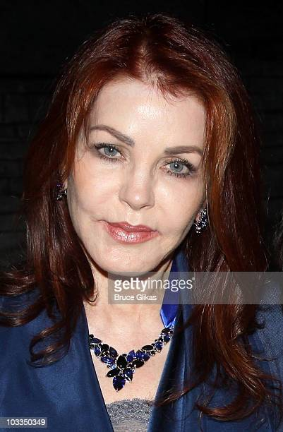 Priscilla Presley poses backstage at Billy Elliot on Broadway at the Imperial Theatre on August 11 2010 in New York City