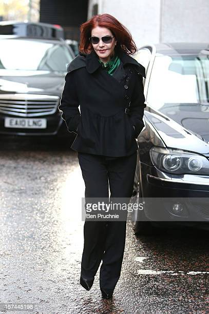 Priscilla Presley sighted departing ITV Studios on December 3 2012 in London England