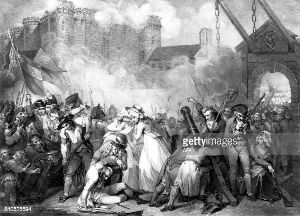 Prise de la Bastille le 14 juillet 1789 à Paris France