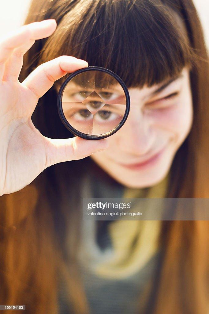 prism lens : Stock Photo
