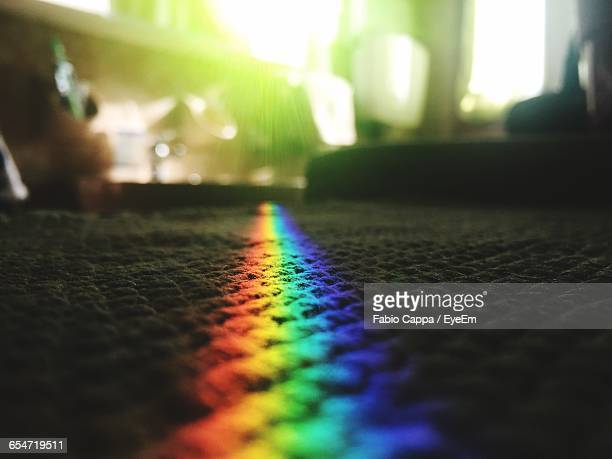 Prism Rainbow Light On Carpet At Home