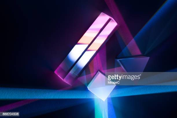 prism refracting colorful light - spectrum stock photos and pictures