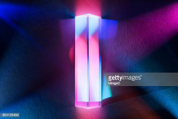 Prism Refracting Colorful Light